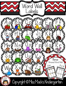 Circle Word Wall Labels