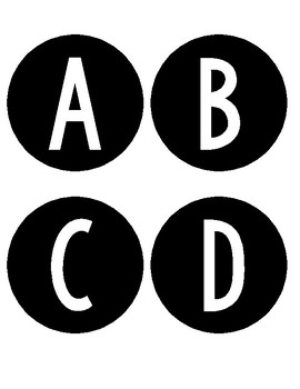 Circle Word Wall Letters
