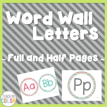 Circle Word Wall Letters - Country Cool - Teal, Green, Cor