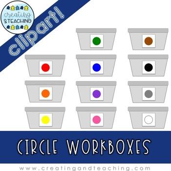 Circle Workbox Clip Art