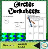 Circle Diameter and Radius Worksheet