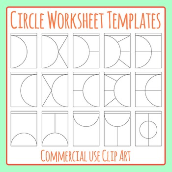 Circle Worksheet Templates / Layouts Clip Art Pack for Commercial Use