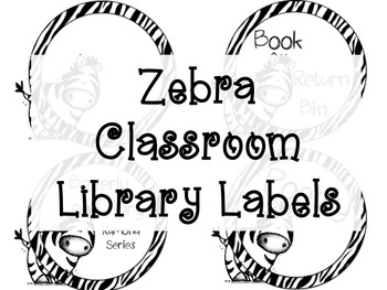 Circle Zebra Classroom Library Labels