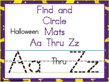 Circle and Find Aa Thru Zz Mats Halloween Mats