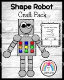 Shape Robot Craft for Kindergarten: Math Activity with Circle and Square