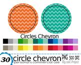 Circle chevron - Clipart - 30 colors - 30 PNG files - 300