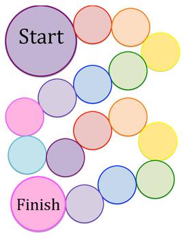 Circle colored blank game board