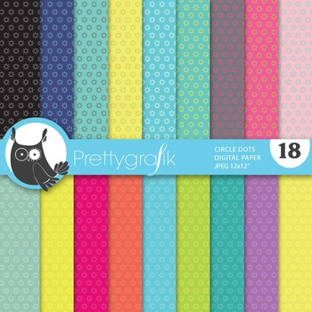 Circle dot digital paper, commercial use, scrapbook papers - PS645
