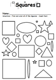 Find and color the Squares