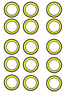Circle name label templates