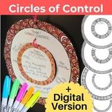 Circle of Control Anxiety Craft + Google Classroom Version