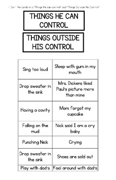 Circle of Control-Self-regulation, Emotions, Mindfulness, CBT, Social Emotional