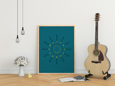 Circle of Fifths Poster - Blue