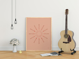 Circle of Fifths Poster - Pink
