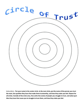 32c2626e6436bc Circle of Trust by Creativity in Counseling | Teachers Pay Teachers