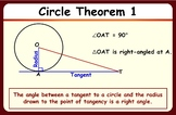 Circle properties & theorems