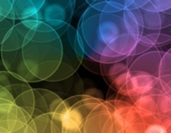 Circle rainbow colored backgrounds