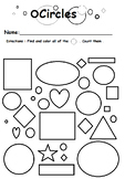 Circle sheet find and color
