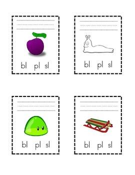 Circle the Blend, Write the Word: bl, sl, pl