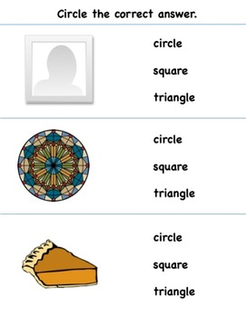 Colors and Shapes - Circle the Correct Answer