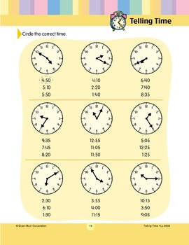 Circle the Correct Time (By 5 Minutes)