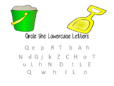 Circle the Lowercase Letters