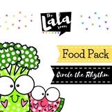 Circle the Rhythms Food Worksheet Pack