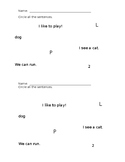 Circle the Sentences