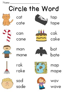 Silent E Worksheets for Long Vowel and Short Vowel Discrimination