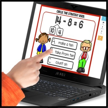 Math Strategies BOOM CARDS [Module 2 Lesson 21]