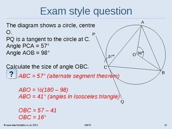Circle theorems workout