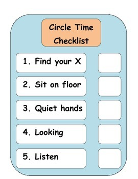 Circle time, adapted rules