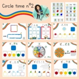Circle time folder- PECs and tracing letters. Special needs. A3 or A4.
