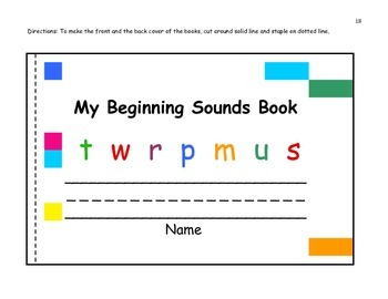 Circle/Color/Student Books for Beginning, Middle, and Ending Sounds