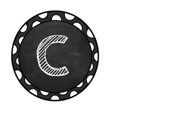 Circled Chalkboard Letters