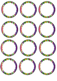 Circled Colorful Labels