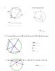 Circles Angles Quiz or Review
