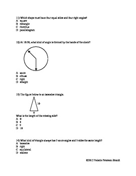 Circles, Angles, and Figures Homework (5 assignments)