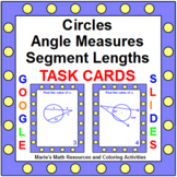 """CIRCLES ANGLES AND SEGMENT LENGTHS: """"GOOGLE SLIDES"""", SMARTBOARD, POWERPOINT"""