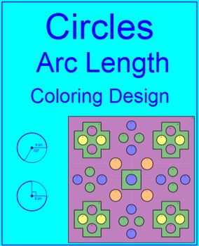 Circles - Arc Length #2 Coloring Activity