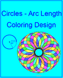 Circles - Arc Length #1 Coloring Design