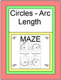 Circles - Arc Length MAZE