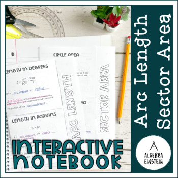 Circles - Arc Length and Sector Area Foldable