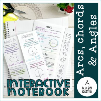 Circles - Arc and Chord Theorems Foldable Notes