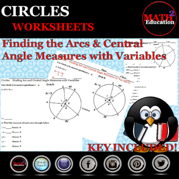 Circles - Finding the Measures of Arcs & Central Angles wi