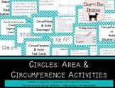 Circles: Area & Circumference Card Sorts and Activities - Bundle!