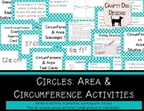 Circles: Area & Circumference Card Sorts and Activities - Bundle!