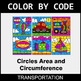 Circles Area & Circumference - Color by Code / Coloring Pa