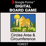 Circles Area & Circumference - Digital Board Game   Google Forms
