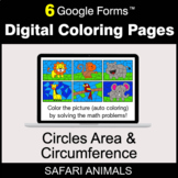 Circles Area & Circumference - Digital Coloring Pages | Go